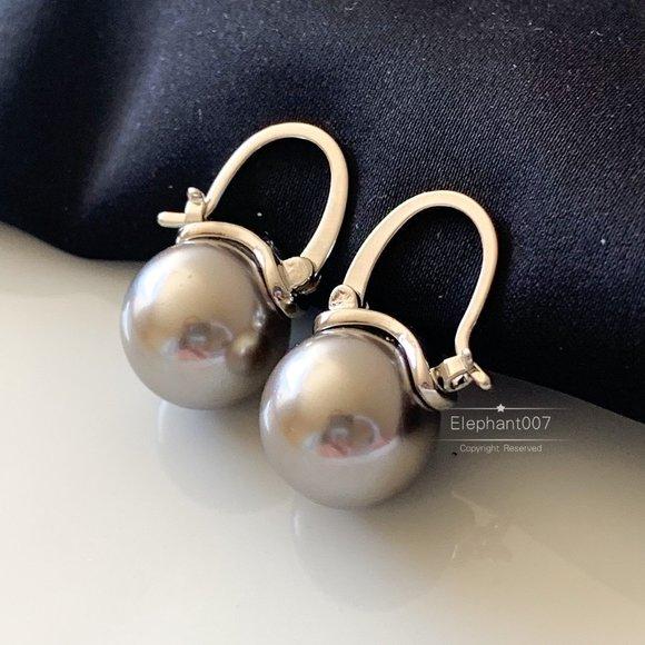 Kate Spade earrings grey pearl earrings
